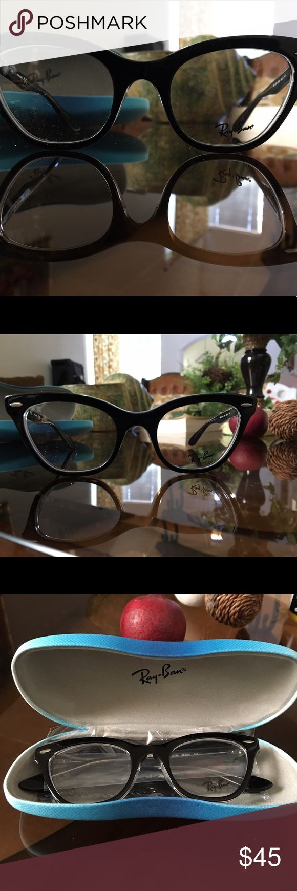 Ray-Ban, Cat eye frames. Cat-eyed frames by Ray-Ban (Made in China) *See pictures above* Brand new, never worn, they're just too small for my face. No scratches on frame, at least none that I could see tbh. Lenses are meant to be replaced with your prescribed ones. Ray-Ban Accessories Glasses