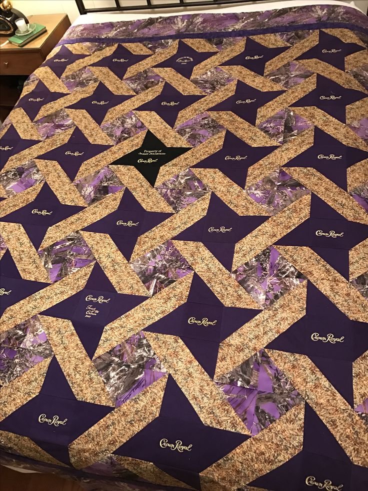 Close up of hunting Crown Royal Quilt