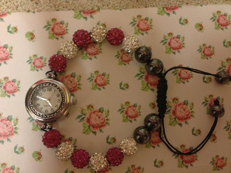 Shamballa watch bracelet just £14.99 ech ❤  Www.sparklesbysam.co.uk xxx