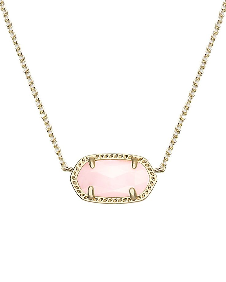Elisa Pendant Necklace in Rose Quartz - Kendra Scott Jewelry