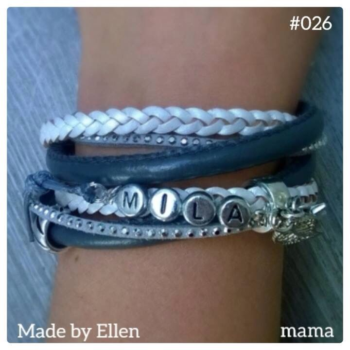 Armband voor mama met de naam van de kleine