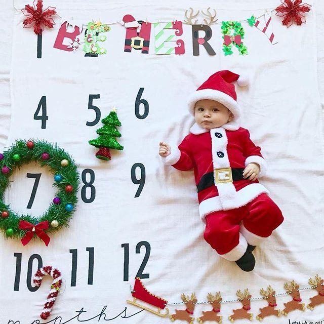 Christmas wreath ToddlerBaby blanket
