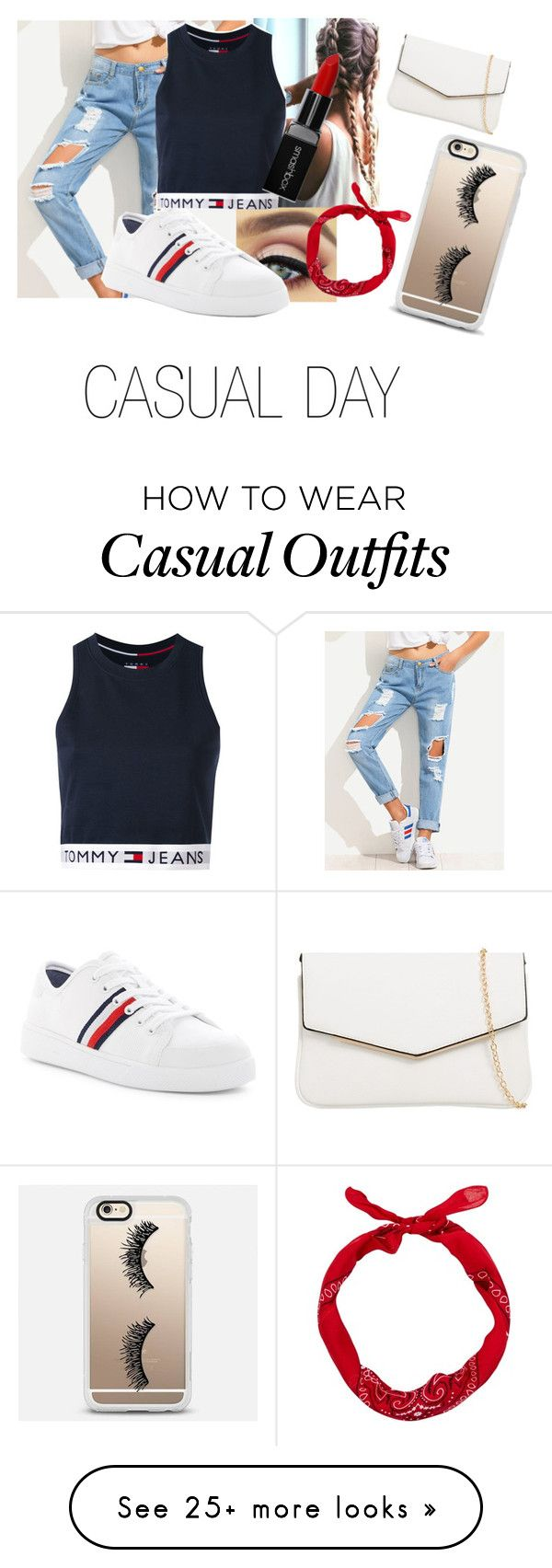 """casual day"" by georgia-harnish on Polyvore featuring Tommy Hilfiger, Smashbox, Casetify and KoKo Couture"