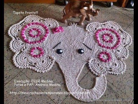 Tapete Elefantinha Graciosa, 1ª parte ( Elephant Rug, part 1)