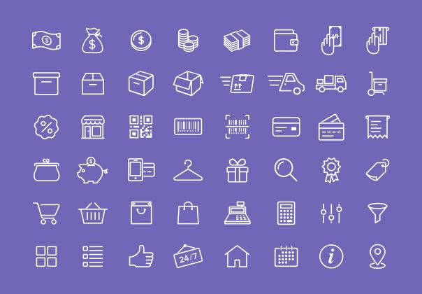 This set of fifty e-commerce icons is sure to contain the ones you need. Check it out!