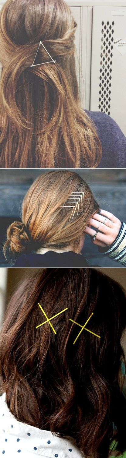 Festive fun with bobby pins