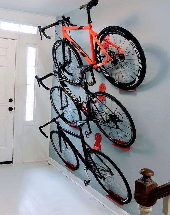17 Best Ideas About Hanging Bike Rack On Pinterest Wall