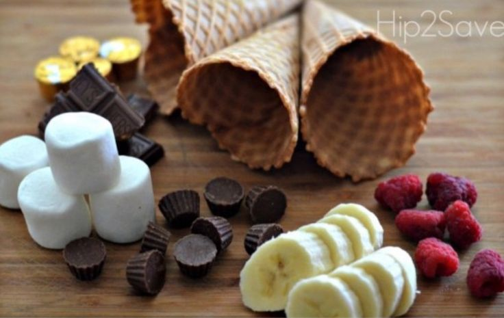 These gooey rich Chocolate and Marshmallow Campfire Cones are so yummy and they are just one of the amazing things you'll find in our Campfire Treats post. Fill them with chopped banana or your favourite fresh fruits. The whole family will love them and they're ideal for a backyard bbq dessert too.