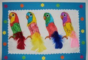 Parrot craft idea for kids | Crafts and Worksheets for Preschool,Toddler and Kindergarten