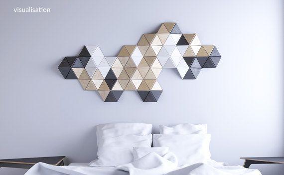 CELL — 15 pcs. wall sculpture, Decor, Pattern, Geometric, Hexagon