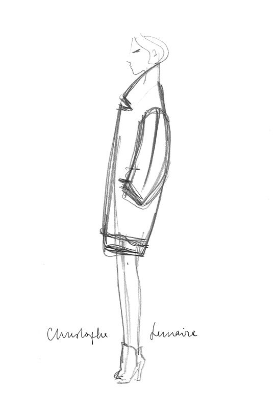 Sketch by Christophe Lemaire for Fall/Winter 2013- 2014 #fashion #sketch  #illustration