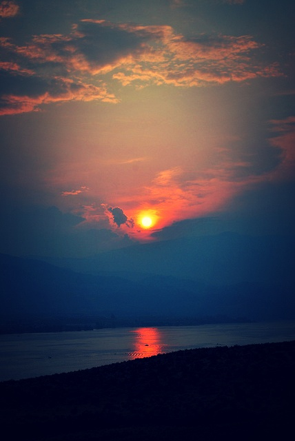 Sunset over Osoyoos Lake