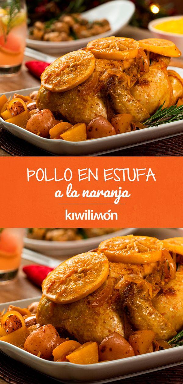 Pollo En Estufa A La Naranja Receta Comida Nutritiva Recetas Kiwilimon Recetas Comida Comida
