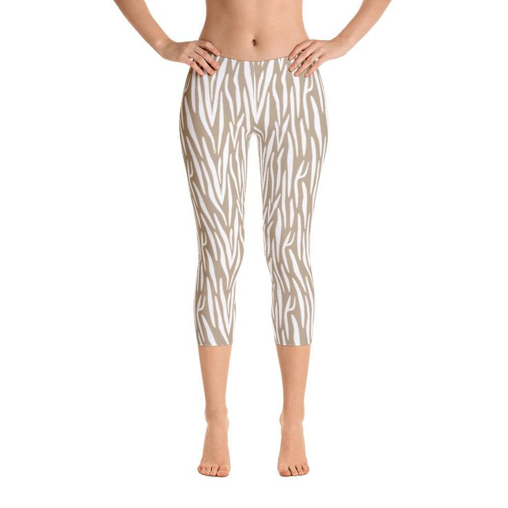 Excited to share the latest addition to my #etsy shop: Animal Skin-Capri Leggings, USA, printful http://etsy.me/2F7CkmF #clothing #women #pants #animal #nude #pattern #skin #wild #light