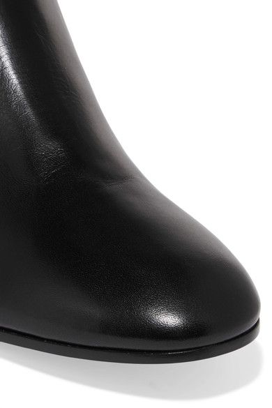 Gianvito Rossi - Leather Over-the-knee Boots - Black - IT37.5