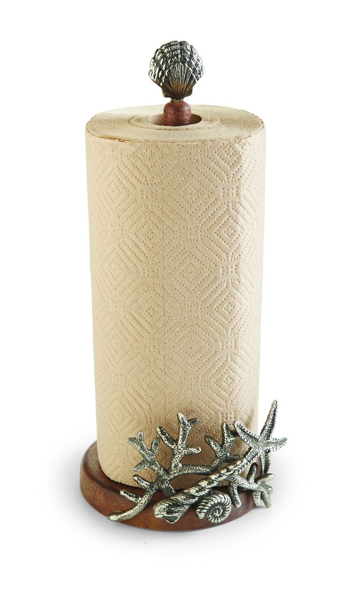 Coral & Starfish Paper Towel Holder