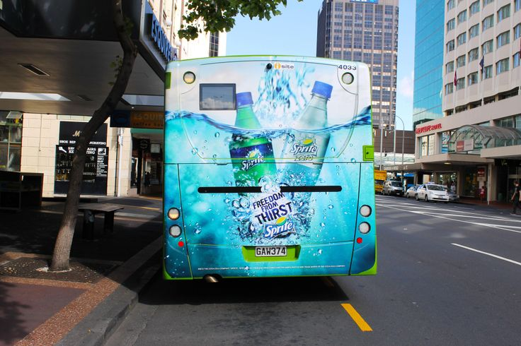 Sprite on the busback panel, Auckland, NZ.