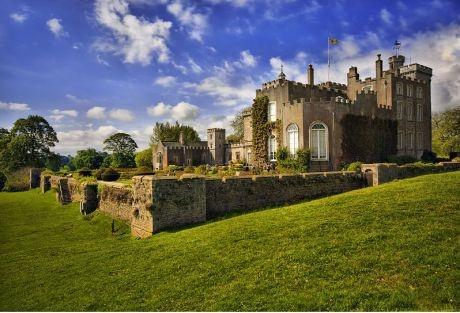 Powderham Castle, Exeter outskirts, England .
