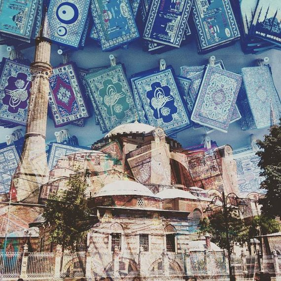 Colourful Double Exposure Istanbul Square by CraigHullPhotography