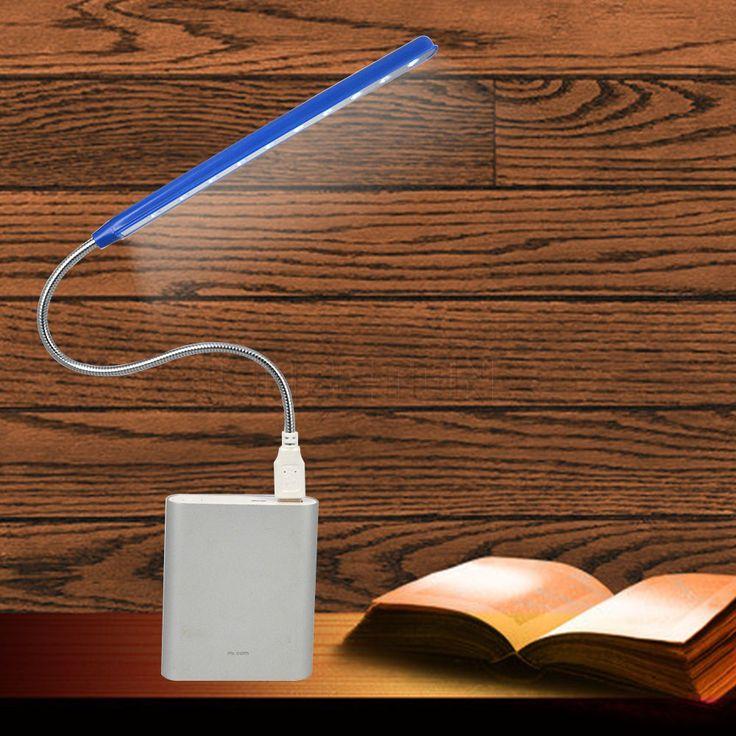 Lo nuevo Ultra Flexible Brillante Mini 10 LED USB Luz de la Computadora LLEVÓ La Lámpara Para El Ordenador portátil Conveniente para la lectura