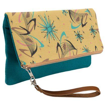 Mid Century Modern Retro Stylish Custom Clutch - chic design idea diy elegant beautiful stylish modern exclusive trendy