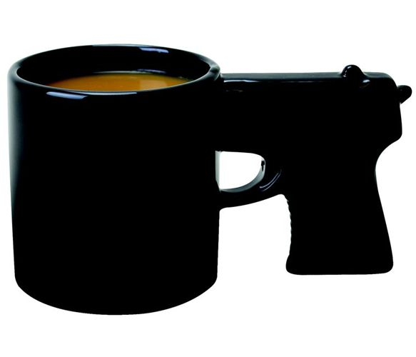 Gun Mug  - This is how I feel when before I have my coffee!!!