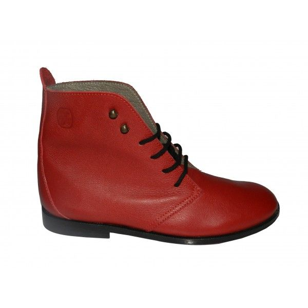 Made in Romans - Bottines en Cuir Femme, Bottines Plates