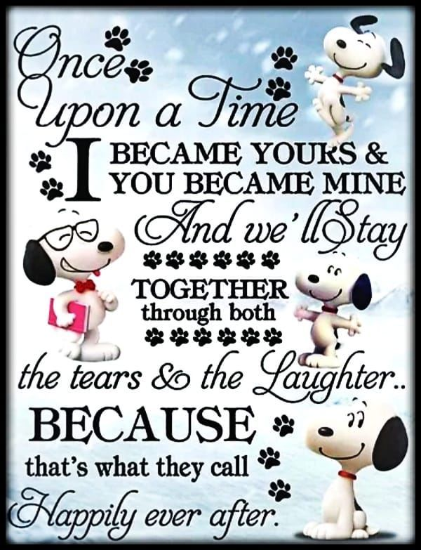 Happily Ever After love snoopy love images romantic love ...