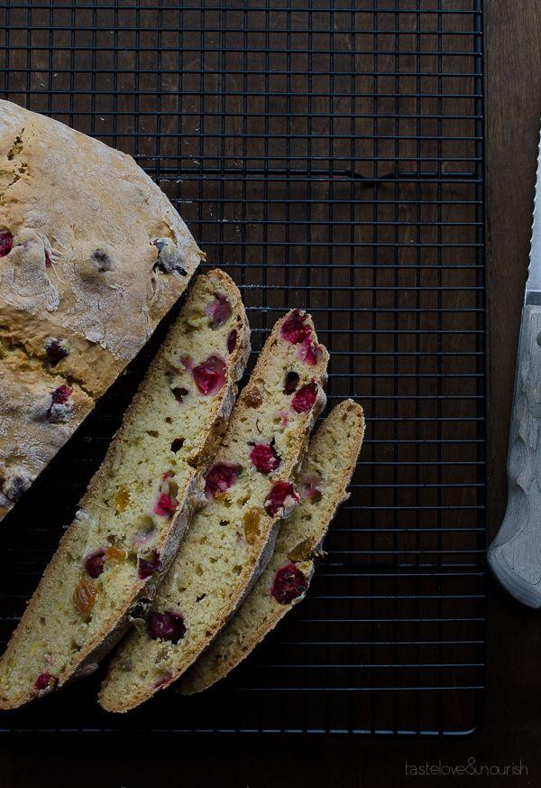 Cranberry Orange Soda Bread | @tasteLUVnourish | #cranberry #orange #sodabread