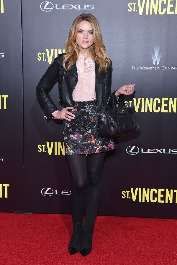 Erin Richards attends New York Premiere of St. Vincent on 6th October, 2014. Erin was wearing a multi coloured mini skirt paired with a…