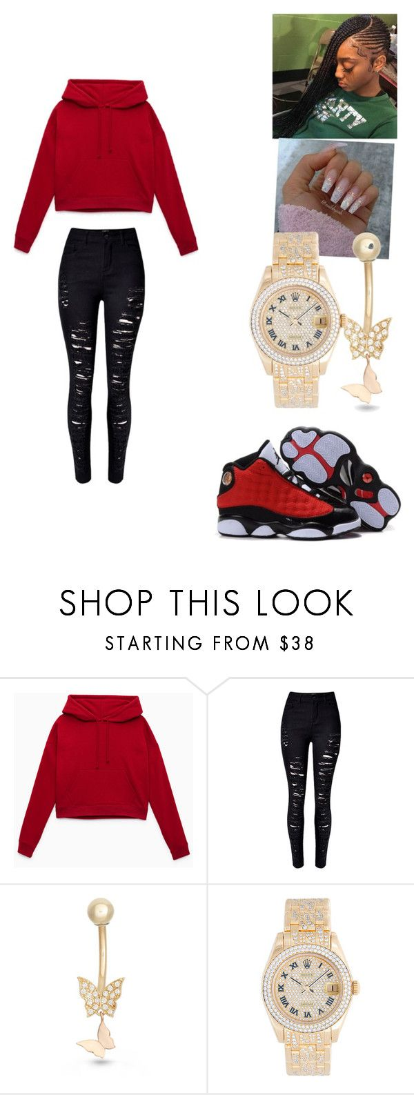 """""""Untitled #264"""" by trillduchess ❤ liked on Polyvore featuring WithChic and Rolex"""