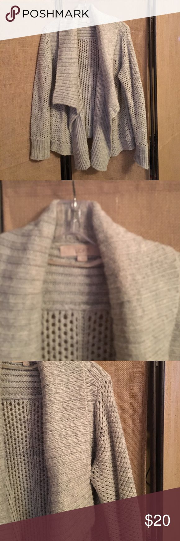 LOFT Open Cardigan LOFT Open Cardigan in gray LOFT Sweaters Cardigans