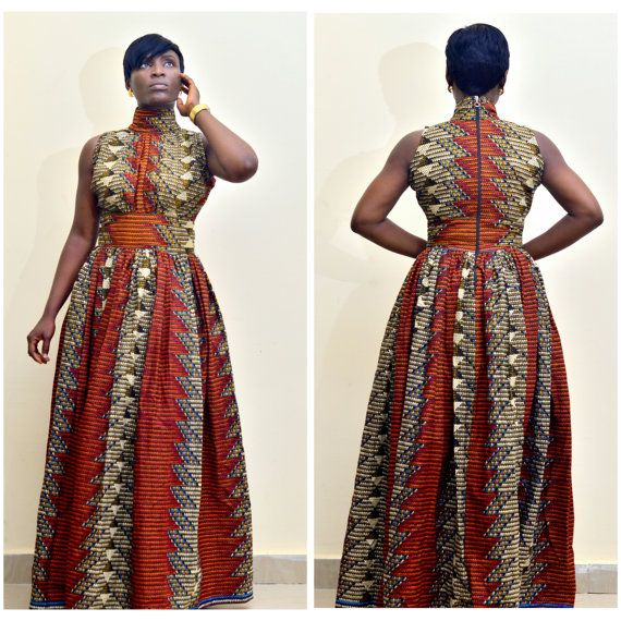 The Alicia African Print Dress African maxi dress by FashAfrique ~African fashion, Ankara, kitenge, African women dresses, African prints, Braids, Nigerian wedding, Ghanaian fashion, African wedding ~DKK