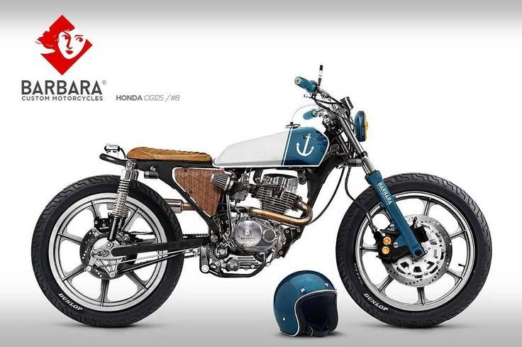 Honda CG125 Brat Style Design #8 by Barbara Custom Motorcycles #motorcycles #bratstyle #motos | caferacerpasion.com