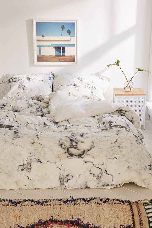Embly Home Marble Duvet Cover Bedroom Aesthetic Pinterest Marbles And Bedrooms