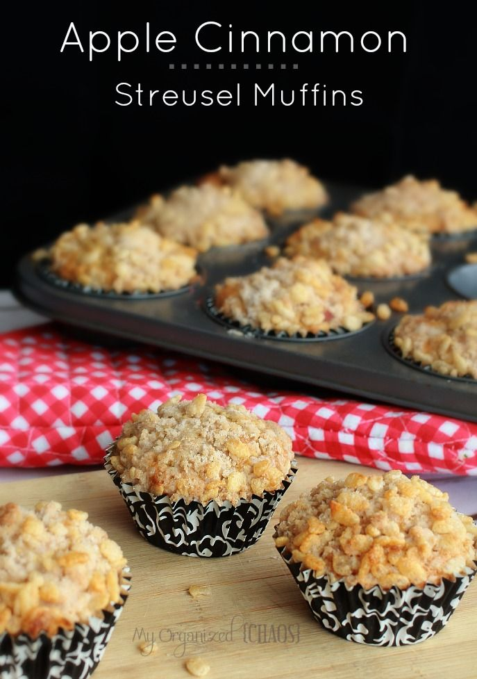 Apple Cinnamon Streusel Muffins recipe, easy and fun snacks to send ...