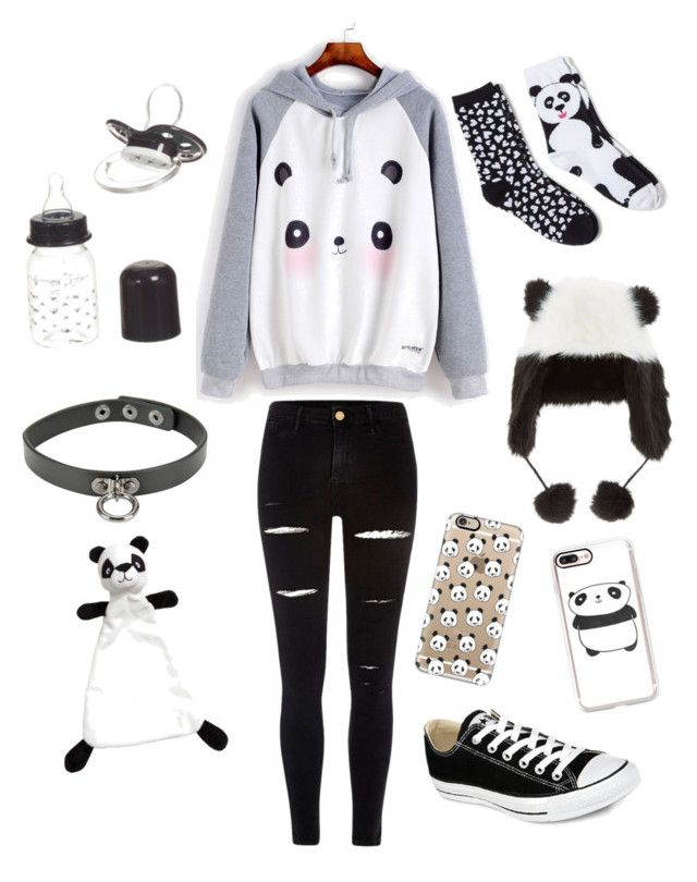 """""""Pandas (ddlb/ddlg)"""" by transboyfanboy on Polyvore featuring Casetify, Davco, Giorgio Armani, River Island and Converse"""