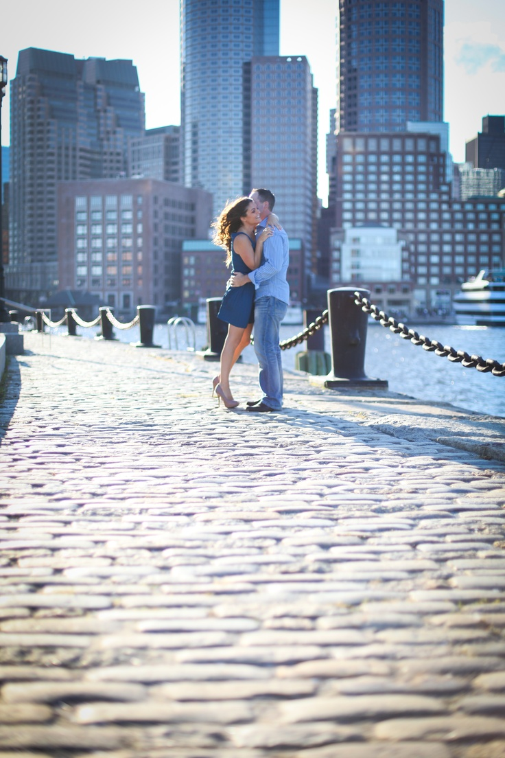 Photography engagement session in Seaport, Boston. ©Ryan Media