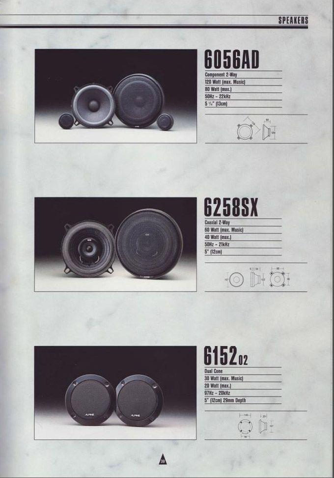 1990 Alpine Car Audio Brochure Honda Tech Honda Forum