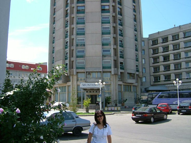 In front of the Hotel in Pitesti, a city 100klm away from Bukarest, Romania.