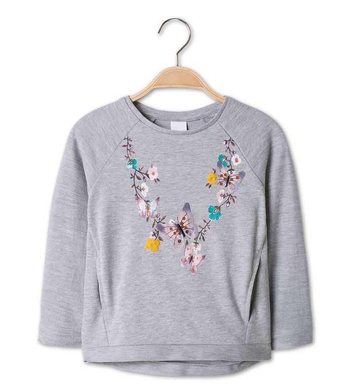 Sweatshirt in licht grijs-mix