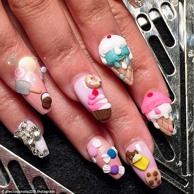 Good enough to eat: Amber Trawick, a nail artist on the Oxygen network's Boss Nails, takes...