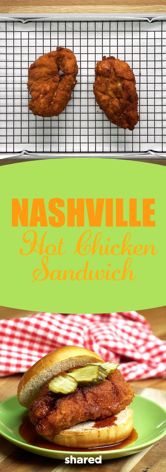 The Nashville hot chicken is a well-known (and loved!) type of fried chicken originating from - you guessed it - Nashville, Tennessee! Typically served with sliced white bread and pickle chips, our spin on the Nashville Hot Chicken Sandwich will leave you happy and full from a delicious meal! We deep fry our chicken for a satisfyingly crispy outside paired with a juicy interior when you take a bite, and don't forget the spicy sauce - you need to sauce up those sandwiches before serving for…