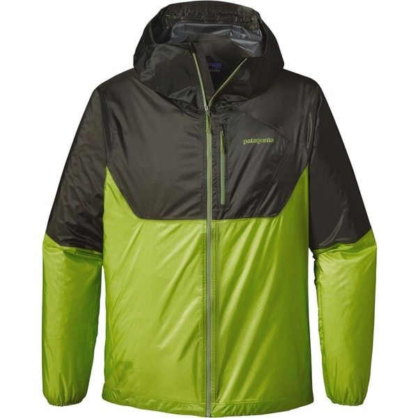 Patagonia Alpine Houdini Jacket ($109) ❤ liked on Polyvore featuring men's fashion, men's clothing, men's outerwear, men's jackets, patagonia mens jacket, mens nylon jacket, mens zip up jackets and mens jackets