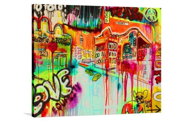 STREETS AHEAD [LR-0007] - $399.00 | United Artworks | Original art for interior design, buy original paintings online