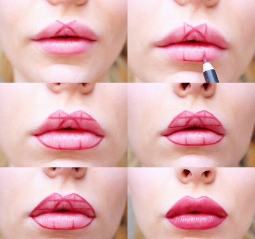 She Started Drawing Geometrical Shapes On Her Lips, Results Are Just Amazing