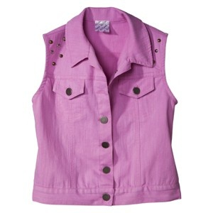 D-Signed Girls' Denim Vest - Lilac-$24.99 at target.com