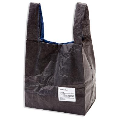 TYVEK TOTE BAG / L[BLACK/NAVY] - 1LDK