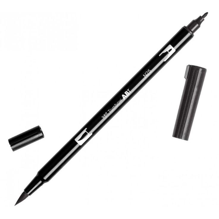 (Papelaria Universitária) Caneta Marcador Artístico Tombow Dual Brush ABT   Preto Lampiao ABTN25 - R$19,90