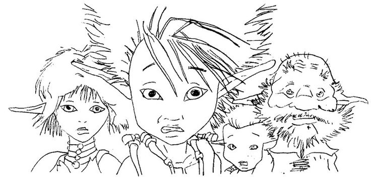 Coloring page Arthur and the Minimoys